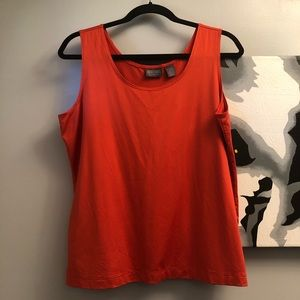 Chico's sz 2 (LG) orange tank top -mint condition